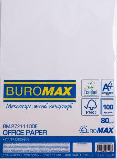 Бумага офисная Buromax Euromax А4 80 г/м2 100 листов Белая (BM.27211100E)