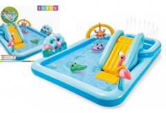 """Детский надувной игровой центр INTEX """"Приключения в джунглях"""" горка, фонтаны, 2 басейна"""