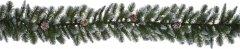 Гирлянда Triumph Tree Empress 270 см Зеленая с декоративными шишками и эффектом инея (8712799298088)