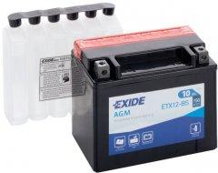 Мото аккумулятор Exide AGM 10 Ah (+/-) 150EN (ETX12-BS)