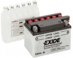 Мото аккумулятор Exide Conventional 4 Ah Ев (-/+) 50EN (EB4L-B)