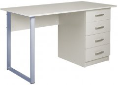 Стол Новый Стиль TWINKS ordf ALU 1100 х 500 х 750 мм Белый (СТОЛ TWINKS ALU 1100*500*750 БЕЛ)