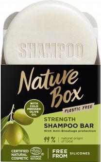 Твердый шампунь Nature Box Olive Oil для укрепления длинных волос та противодействия ломкости с оливковым маслом холодного отжима 85 г (90443787)