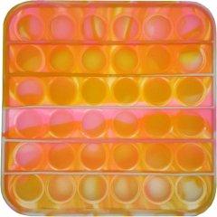 Игрушка антистресс Pop It Квадрат yellow/pink (2000024321547)