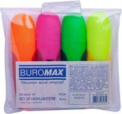 Набор текст-маркеров Buromax Neon с резиновыми вставками 4 шт (BM.8904-84)