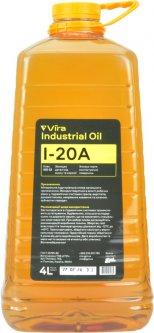 Масло индустриальное Vira И-20А 4 л ПЭТ (новая этикетка) (VI0333)