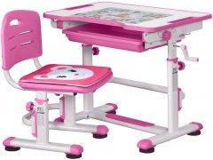 Комплект Evo-kids BD-08 PN стол + стул Белый/розовый