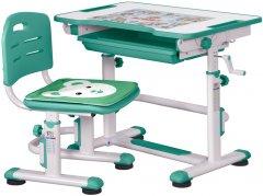 Комплект Evo-kids BD-08 Z стол + стул Белый/зеленый