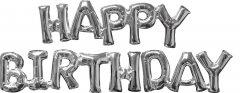 Шарики воздушные Amscan Phrase Happy Birthday Silver P60 (3609701)