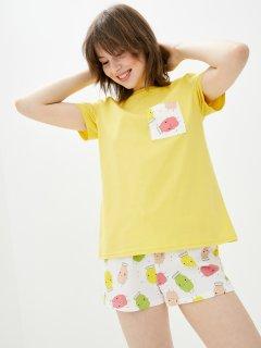 Комплект (футболка + шорты) ROZA 210202 M Желтый (4824005614248)