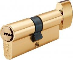 Цилиндр Linde A6Р 30x30 ключ-тумблер 60 мм Полированная латунь (A6P30/30T PB)