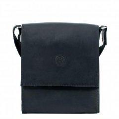Сумка-планшетка мужская Vittorio Sffino с клапаном на магнитах из натуральной матовой кожи (код-VS 220)Black