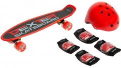 Пенни борд Caretero Toyz Dexter + Шлем и защита Red (TOYZ-0503)