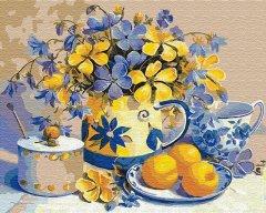 Картина по номерам Идейка Абрикосовый натюрморт 40 x 50 см (КНО2031) (4823104300571)