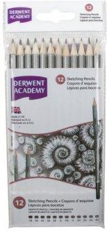 Набор чернографитных карандашей Derwent Academy Sketching 12 шт 5H-6B (2300412)