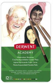 Набор акварельных карандашей (оттенки кожи) Derwent Academy 12 цветов (2300386)