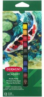 Набор акриловых красок Derwent Academy 12 цветов 12 мл (2302401)