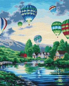 Картина по номерам Идейка Пейзаж Воздушные шары 2 40х50 см (КНО2221) (4820143946593)