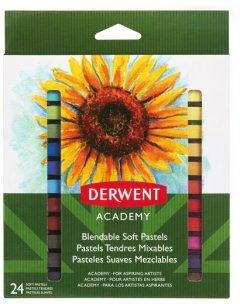 Набор сухой пастели Derwent Academy Soft Pastels 24 цвета (98216)