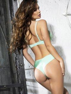 Комплект (бюстгальтер + трусики-бразилиана) Lise Marie Amely 2198 85C/XL Мятный (2000017347011)