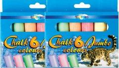Мел цветной Centrum Jumbo круглый 2 x 6 шт (824262) (2000998452445)