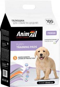 Пеленки для собак AnimAll 60х60 см с ароматом лаванды 100 шт (4820224500737)