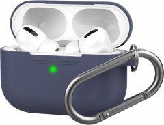 Силиконовый чехол AhaStyle с карабином для Apple AirPods Pro Dark Blue (AHA-0P100-NBL)