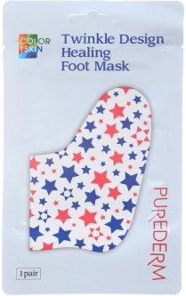 Маска-носки для ног Purederm Twinkle Design Healing Foot Mask 26 г (8809541190391)