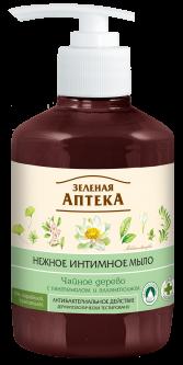 Жидкое интимное мыло Зеленая Аптека Чайное дерево 370 мл (4823015907807)