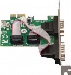 Плата расширения Frime PCI-E x1 to RS232 (2 порта), WCH382L (ECF-PCIEto2SWCH382.LP)