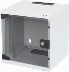 """Шкаф настенный серверный Digitus 10"""" со стеклянной дверью 6U Серый (DN-10-05U-1)"""