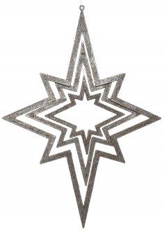 Елочная игрушка Christmas Decoration Подвесная декорация Звезда 34х48 см Серебристая (AWR105250_silver)