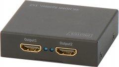 Сплиттер Digitus HDMI (INx1 - OUTx2), 4K Black (DS-46304)