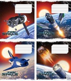 Набор тетрадей ученических Мрії збуваються Космос B5 клетка 18 листов на скобе картонная обложка 4 дизайна 20 шт (ТА5.1811.2995к)