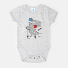 Боди-футболка Minikin Cutesaur 211603 80 см Серый меланж (2020440000956)