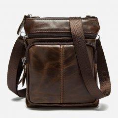 Мужская кожаная сумка Vintage 14608 Коричневая