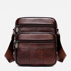 Мужская сумка кожаная Vintage 14987 Коричневая
