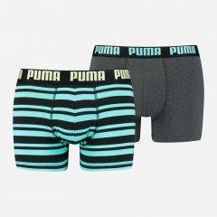 Трусы-шорты Puma Heritage Stripe Boxer 2 90783808 XL 2 шт Blue Black (8720245045421)