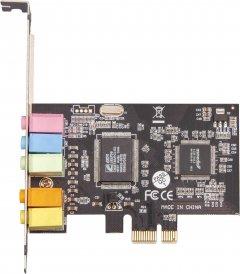 Звуковая карта Frime C-Media CMI8738+ASM1083 4 канала PCI-E x1 (SCF-CMI8738-4CH.LP)