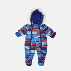 Зимний комбинезон-трансформер Garden Baby 101019-63/33/46 74 см Голубой с серым (4821010193423)