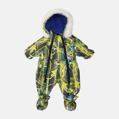 Зимний комбинезон-трансформер Garden Baby 101019-63/33/46 80 см Салатовый с черным (4821010193546)