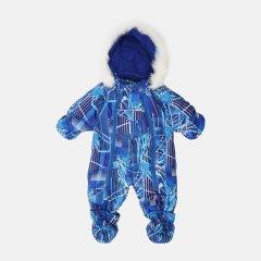 Зимний комбинезон-трансформер Garden Baby 101019-63/33/46 68 см Синий с белым (4821010193164)