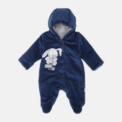 Демисезонный велюровый комбинезон Garden Baby Happy 12109-01/32 68 см Индиго (4821210901361)
