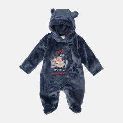 Демисезонный махровый комбинезон Garden Baby Мишка 12107-25 56 см Синий (4821210725165)