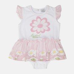 Боди-платье Garden Baby 19348-16 68 см Бело-розовое (4821934816316)