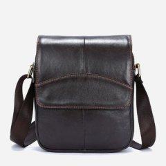 Мужская кожаная сумка-планшет Vintage leather-14733 Коричневая