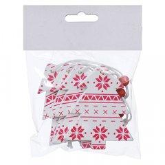 Набор елочных игрушек Jumi Елка 4 шт с 6.5 см белый / красный (5900410375994)