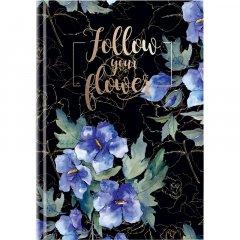 Книга записная Axent Flowers В5 твердая обложка 80 листов клетка Разноцветная (8433-09-A)