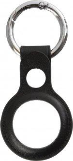 Чехол-брелок ArmorStandart Leather Ring для Apple AirTag Black (ARM59111)