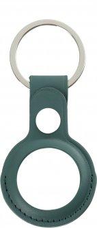 Чехол-брелок ArmorStandart PU Leather Ring для Apple AirTag Pine Green (ARM59117)